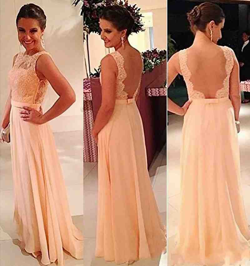 Peach color bridesmaid dresses wedding and bridal for Peach dresses for wedding
