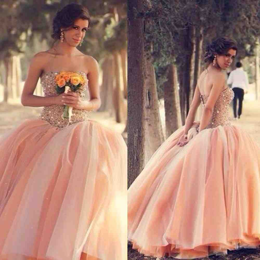 Peach lace bridesmaid dresses wedding and bridal inspiration for Peach dresses for wedding