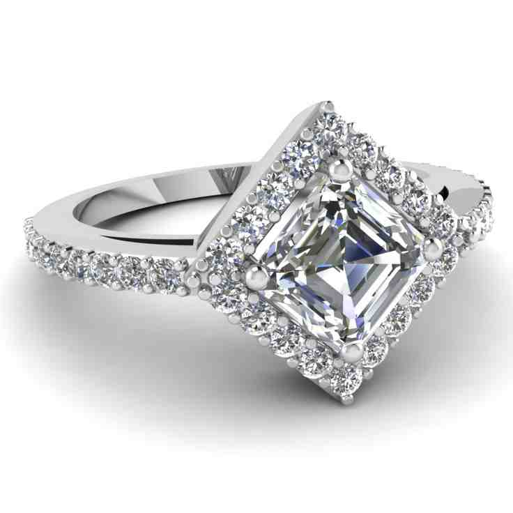 Princess Cut Halo Engagement Ring | www.imgkid.com - The ...