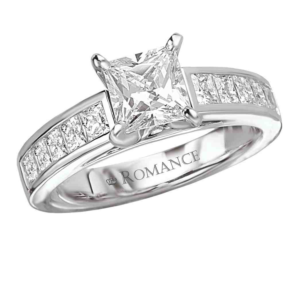 Princess Cut Square Diamond Engagement Ring Wedding and Bridal Inspiration