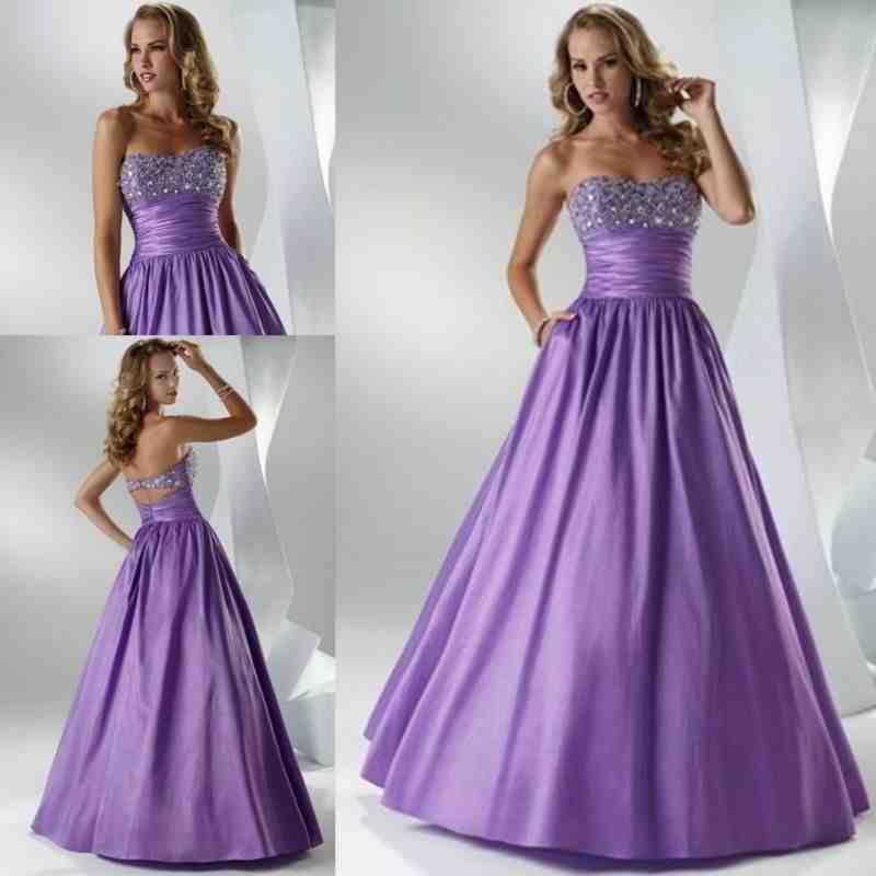 Purple and silver wedding dresses wedding and bridal for Purple wedding dresses for bridesmaids