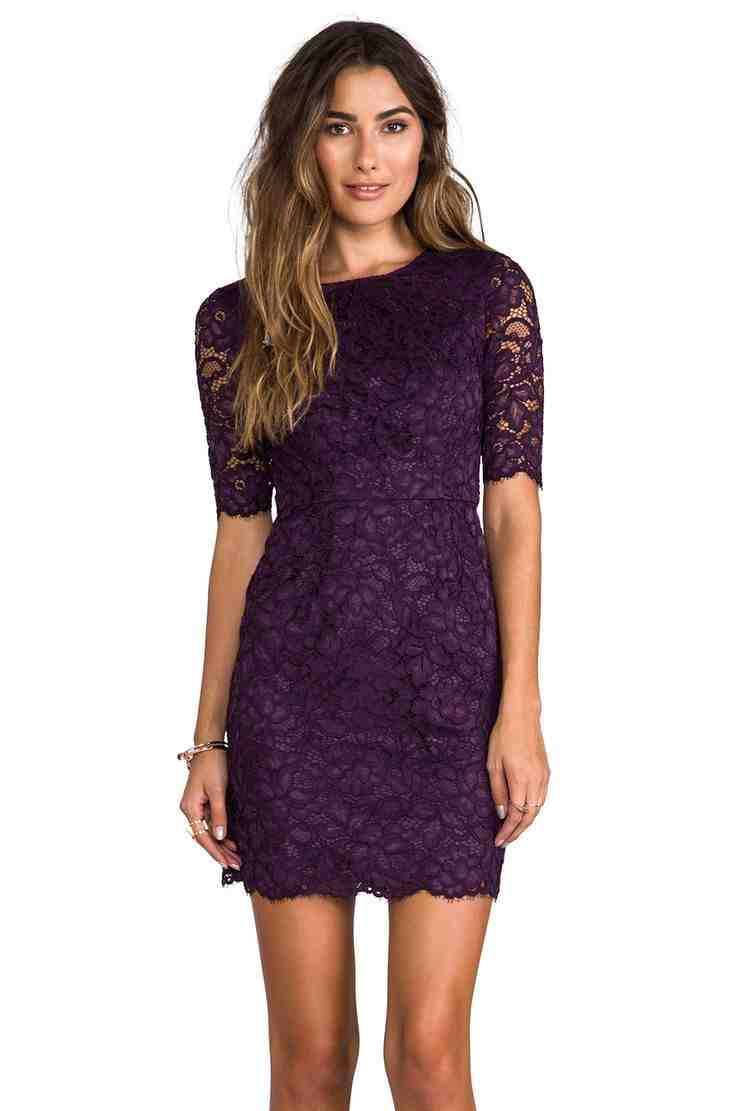 Purple wedding guest dresses wedding and bridal inspiration for Wedding guest lace dresses