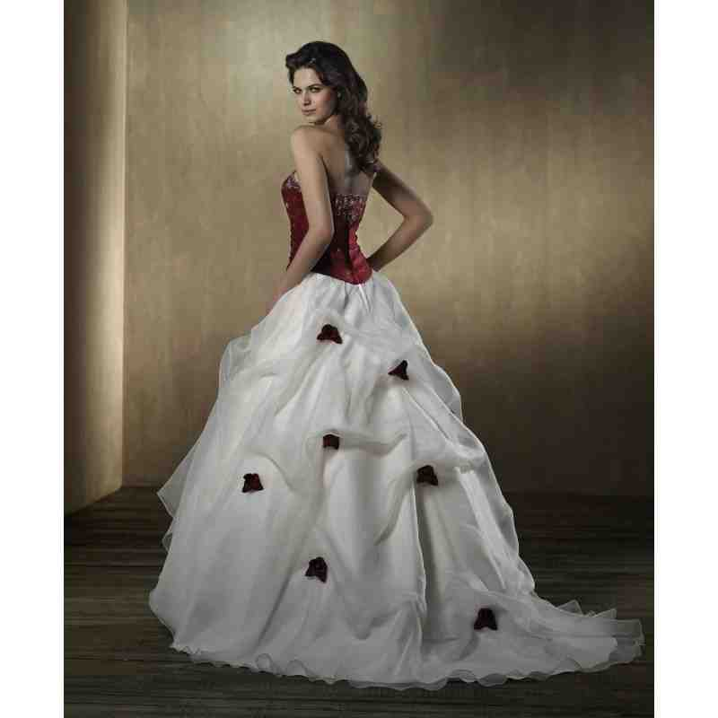 Red black and white bridesmaid dresses wedding and for Wedding dresses white and black