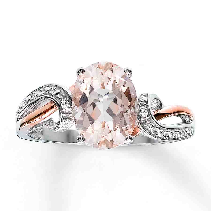 Rose Gold And Silver Engagement Rings Wedding and Bridal Inspiration