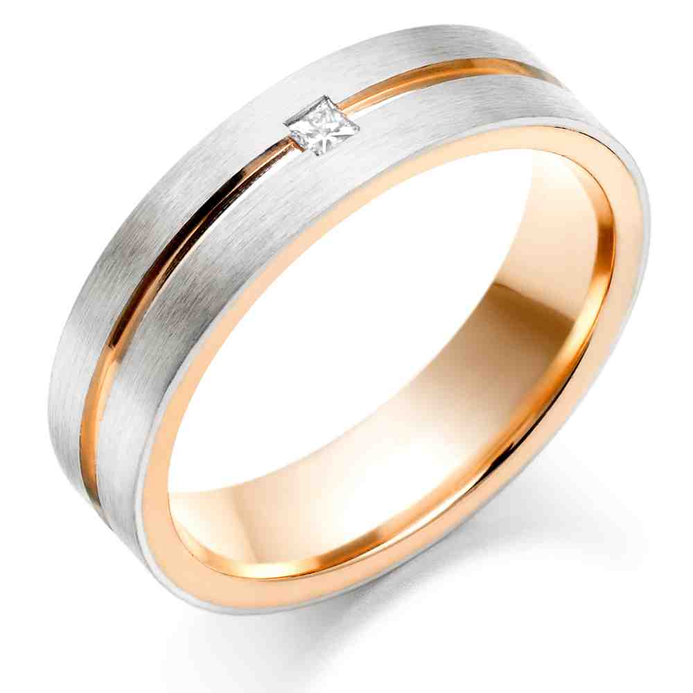 Rose gold engagement rings for men wedding and bridal for Gold engagement and wedding rings