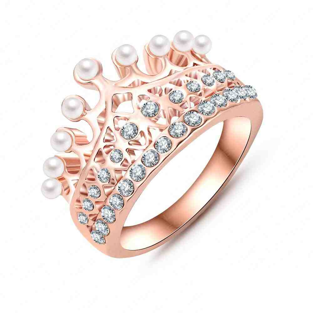 Rose Gold Pearl Engagement Rings Wedding and Bridal Inspiration