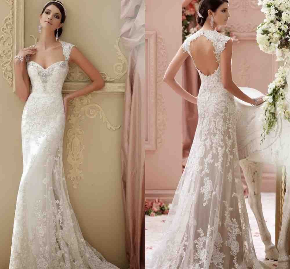 Sheath Backless Wedding Dress