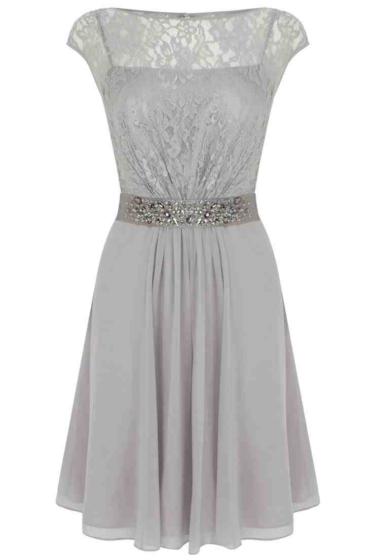 Short grey bridesmaid dresses wedding and bridal inspiration for Gray dresses for a wedding