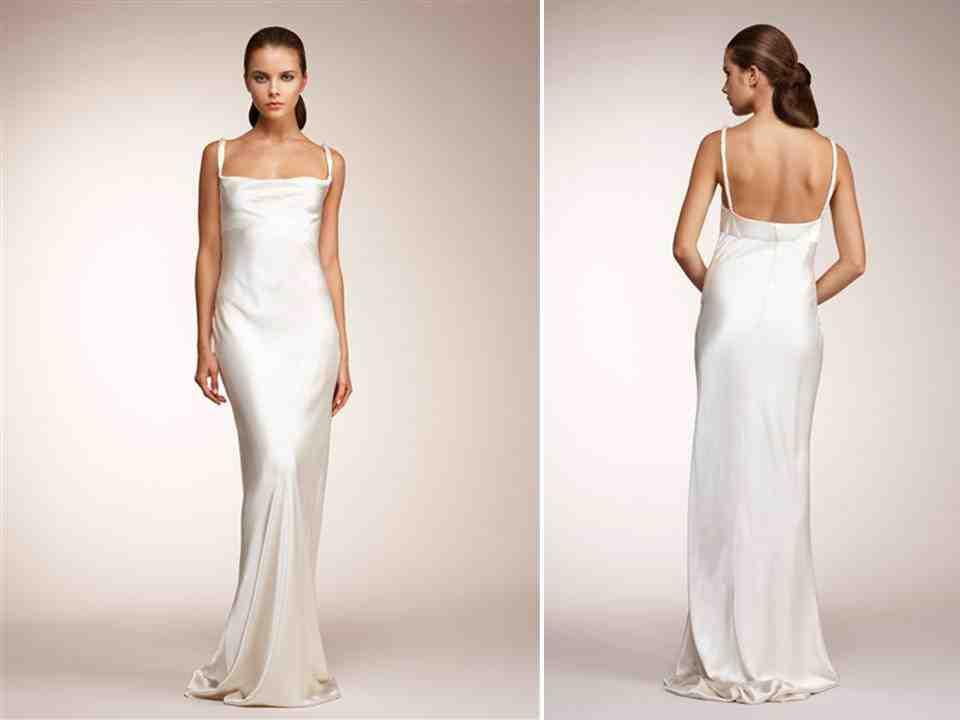 Silk sheath wedding dress wedding and bridal inspiration for Sheath style wedding dress