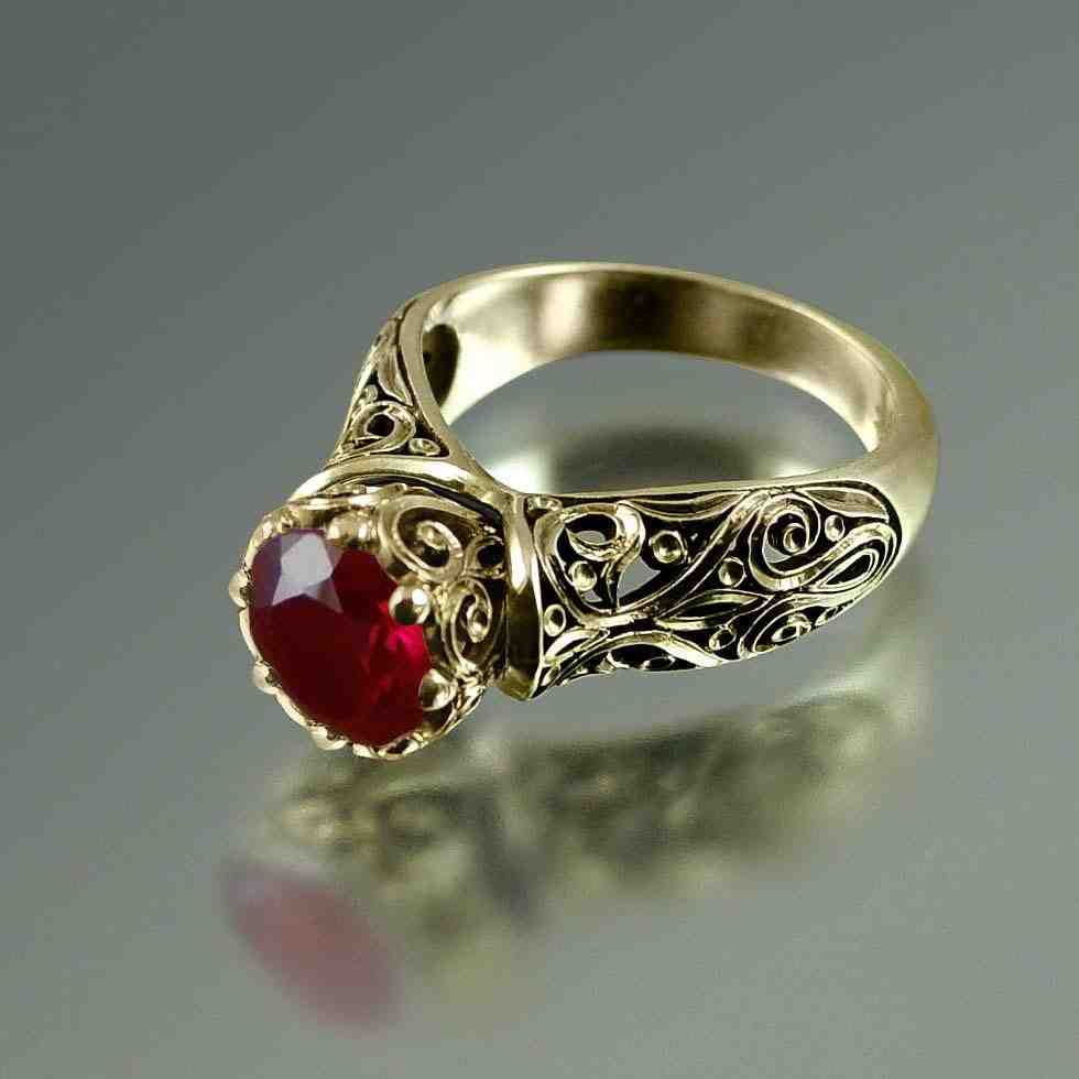 Unique Ruby Engagement Rings Wedding And Bridal Inspiration