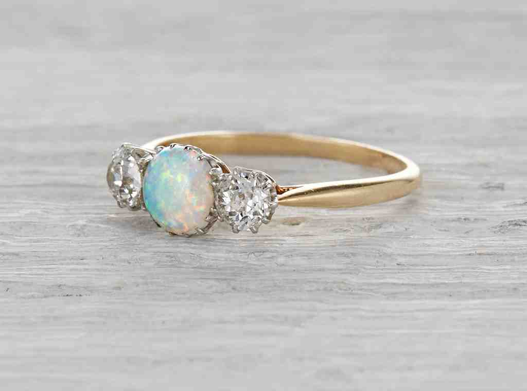 vintage opal engagement rings wedding and bridal inspiration With opal wedding rings