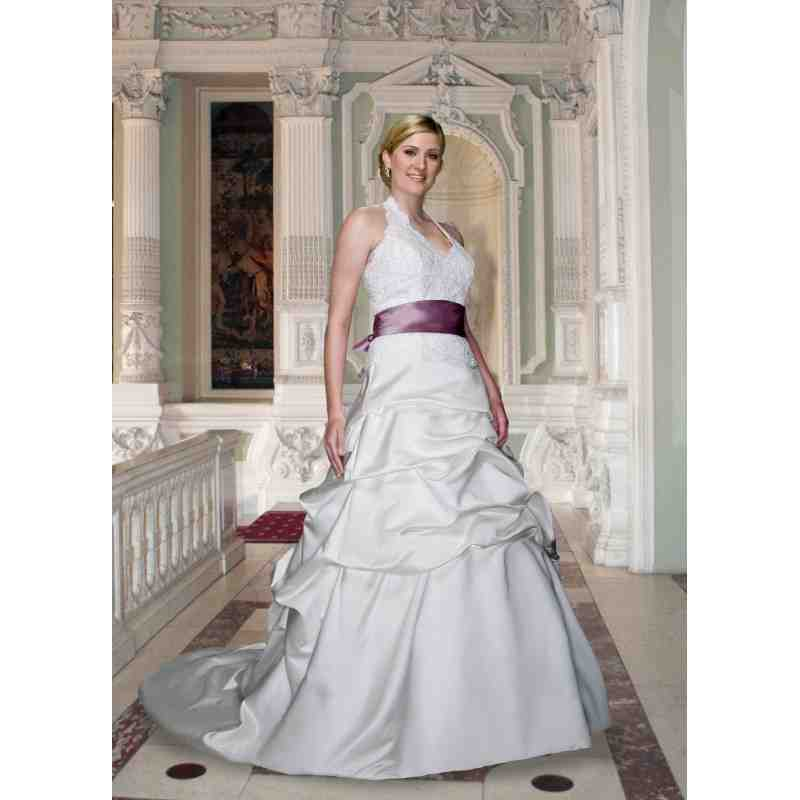 White wedding dresses with color accents for Wedding dress with color accent