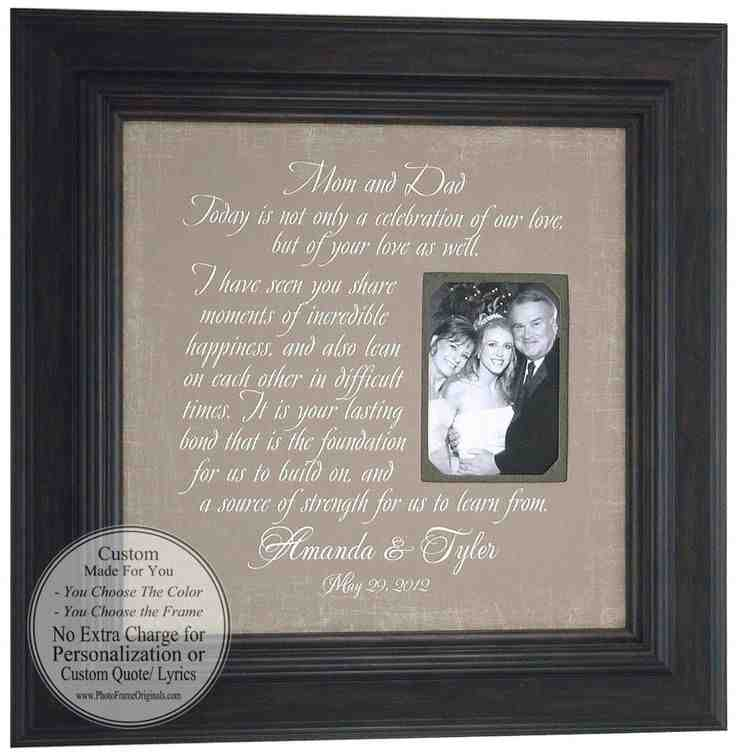 Wedding thank you gifts for parents wedding and bridal for Best gifts for parents for wedding