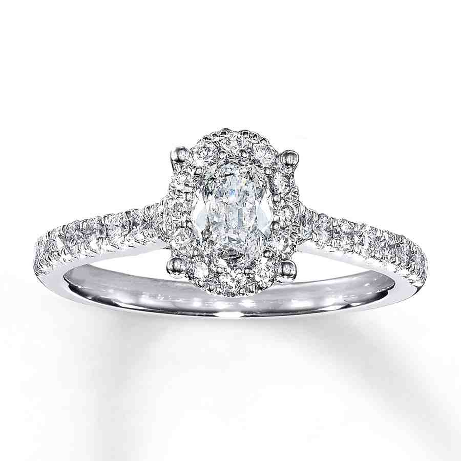 1 Carat Oval Engagement Rings - Wedding and Bridal Inspiration