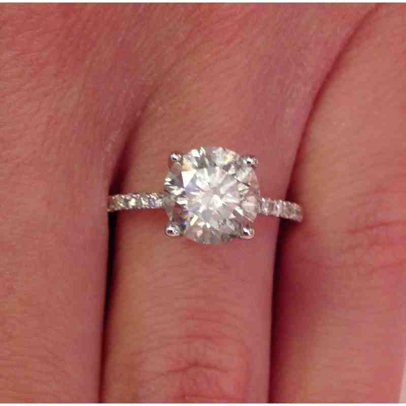 2 Carat Round Solitaire Diamond Engagement Rings Wedding And Bridal Inspira