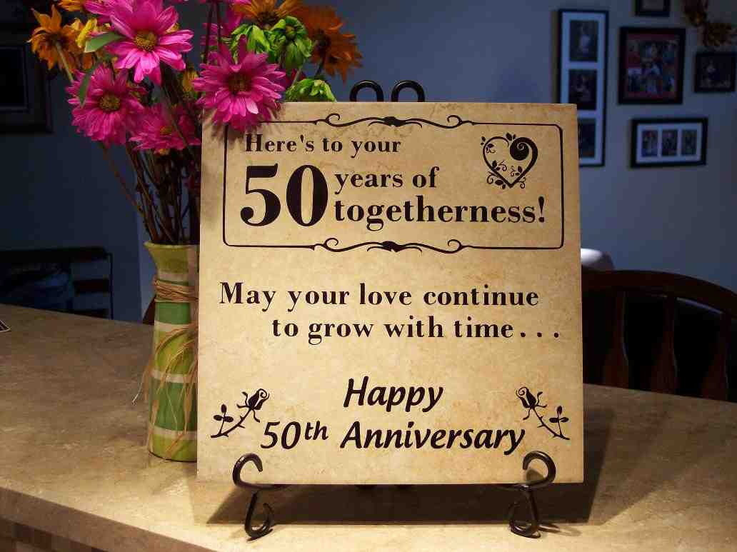 50 Year Wedding Anniversary Gift Ideas - Wedding and Bridal ...