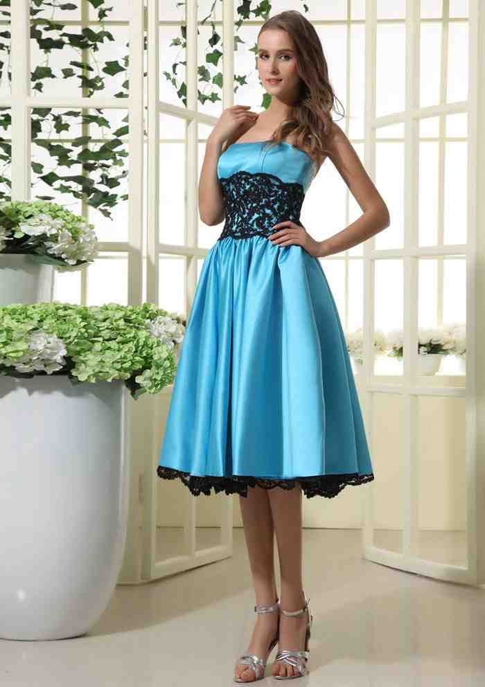 Black and blue bridesmaid dresses wedding and bridal for Blue and black wedding dresses