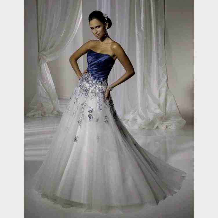 Blue and silver wedding dresses wedding and bridal for Blue silver wedding dress
