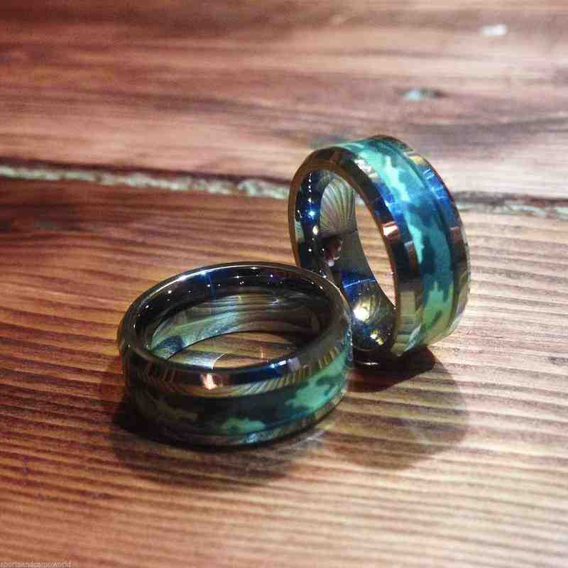 Camo Wedding Rings His And Hers