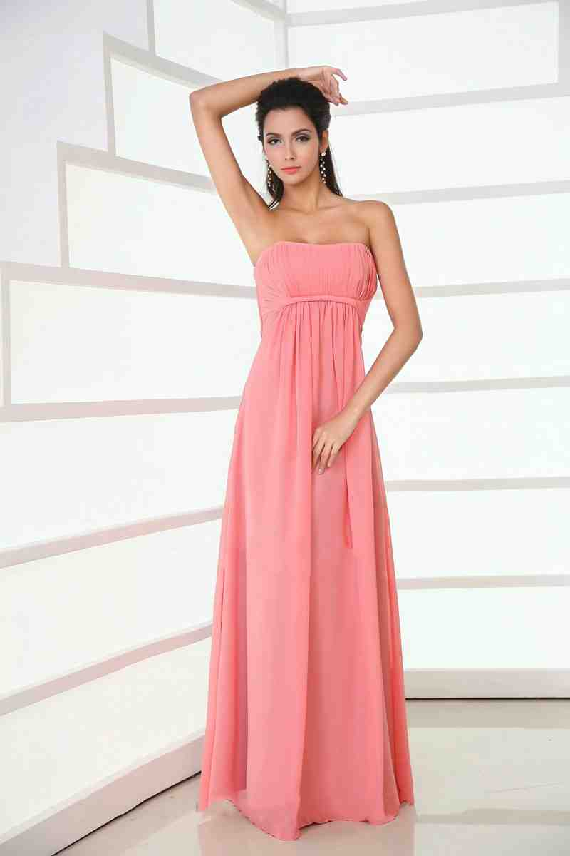 Coral chiffon bridesmaid dresses wedding and bridal for Coral colored wedding dresses
