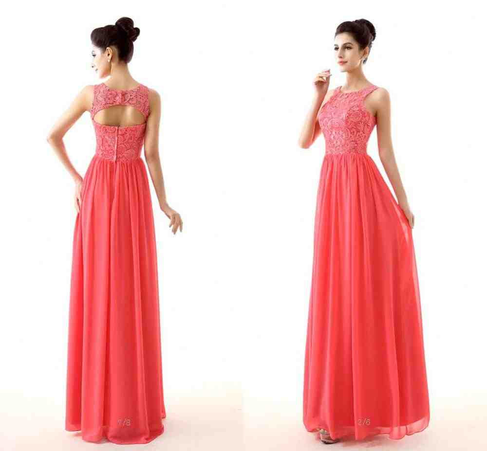 Coral Colored Bridesmaid Dresses Wedding And Bridal