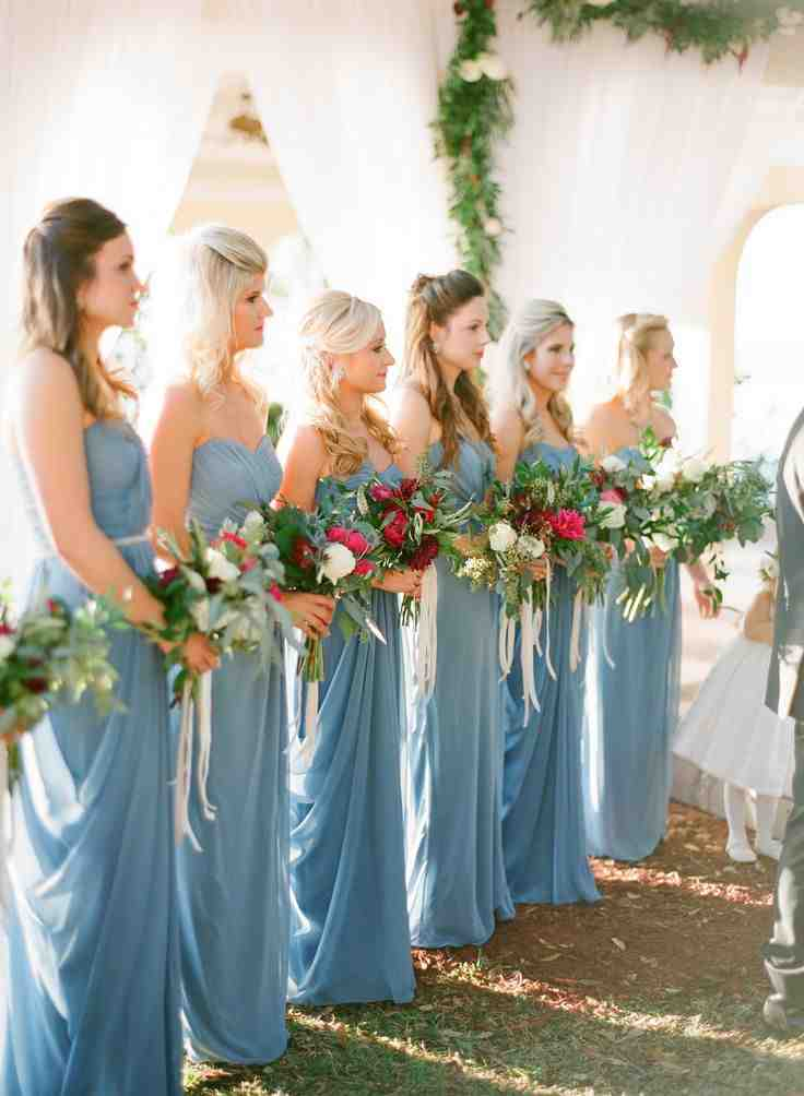 French Blue Bridesmaid Dresses Wedding And Bridal