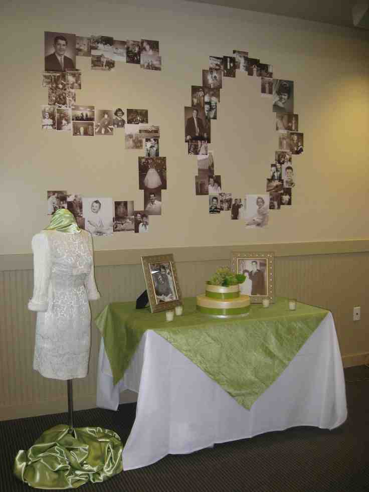 Gift ideas for 50th wedding anniversary party wedding for Anniversary decoration ideas