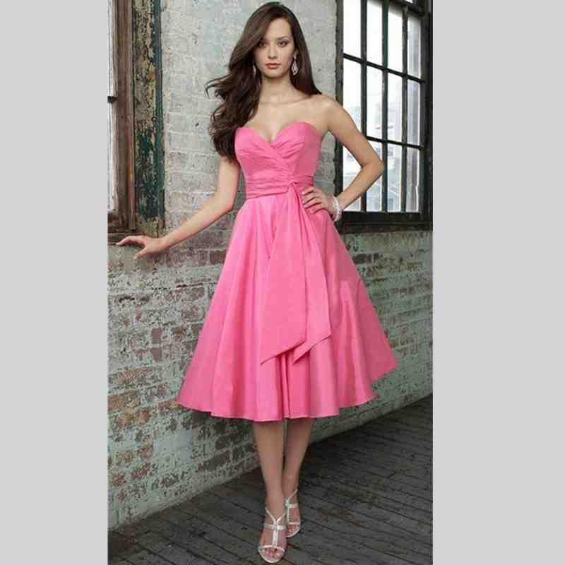 Pink Short Wedding Dresses : Hot pink short bridesmaid dresses wedding and bridal inspiration