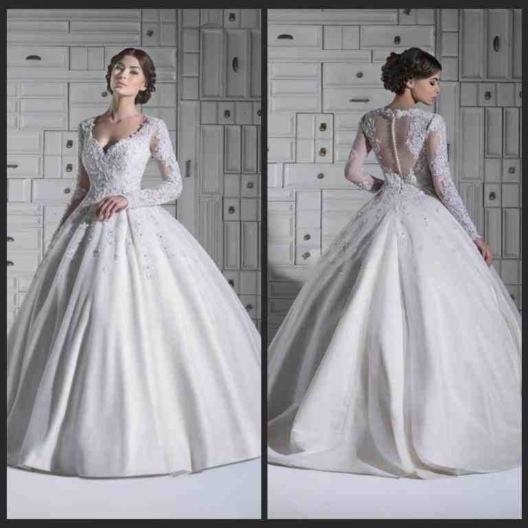 Long Sleeve Winter Wedding Dresses Wedding And Bridal