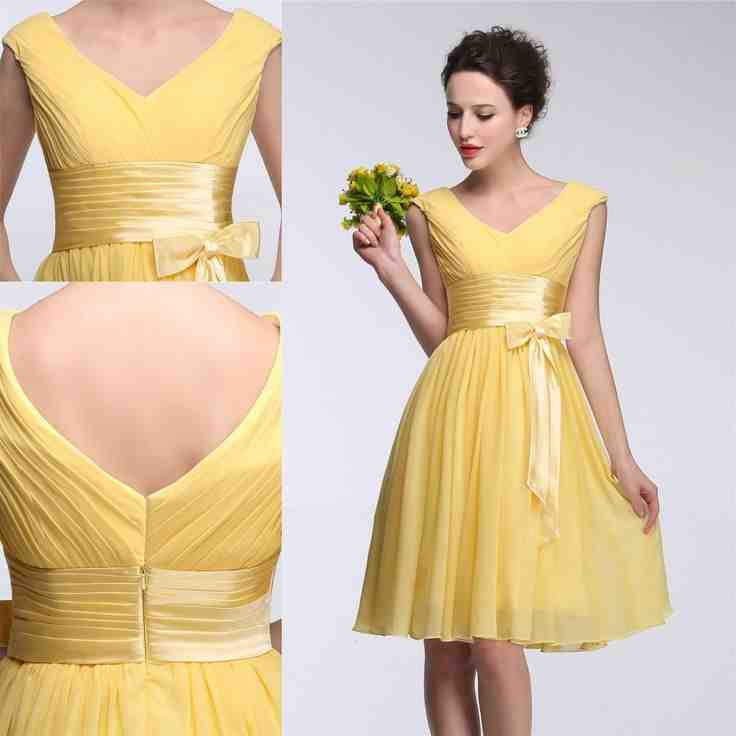 Modest yellow bridesmaid dresses wedding and bridal for Modest wedding dresses seattle
