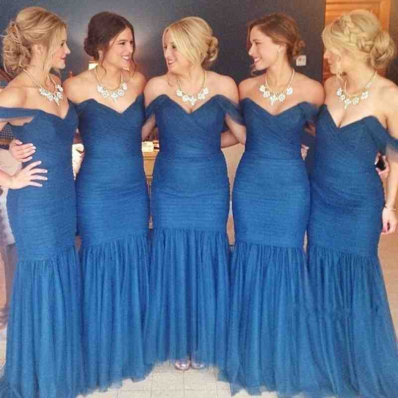 Bridesmaid Dresses In Blue And Gold 13