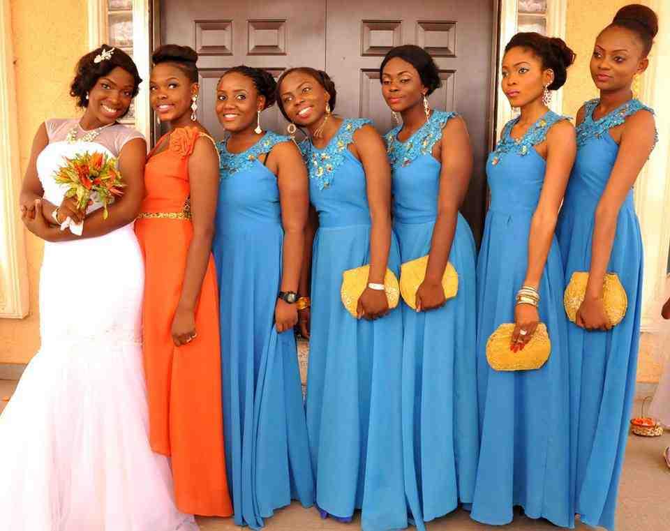 Wedding Gift Ideas Kenya : Orange And Blue Bridesmaid Dresses - Wedding and Bridal Inspiration