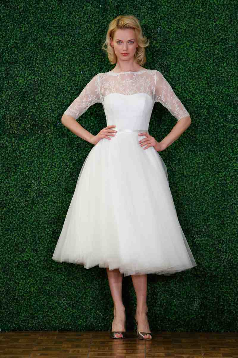 Pictures of short wedding dresses wedding and bridal for Wedding dress for a short bride