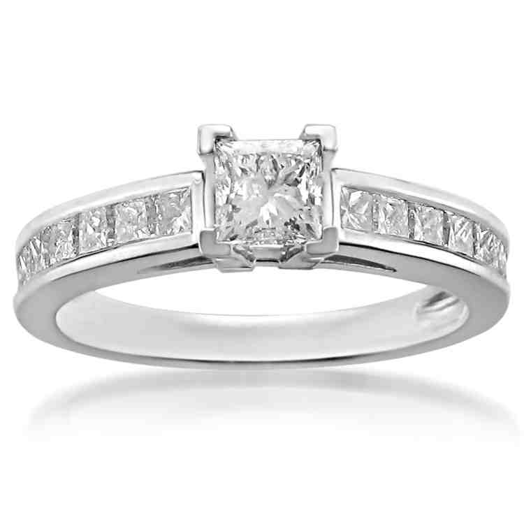 platinum princess cut engagement rings wedding