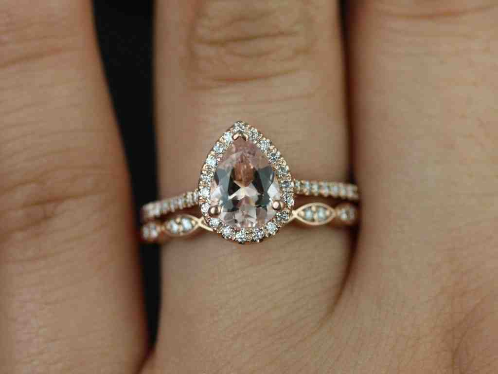 rose gold wedding band with platinum engagement ring With rose gold engagement ring and wedding band