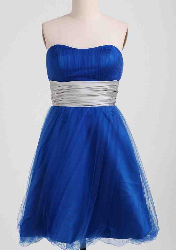 Royal blue and silver bridesmaid dresses wedding and for Royal blue and silver wedding dresses