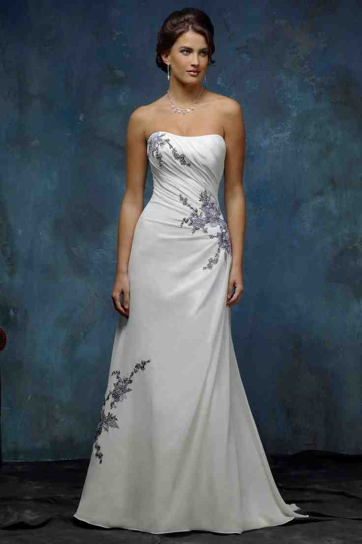 Silver and white wedding dress wedding and bridal for Silver and white wedding dresses