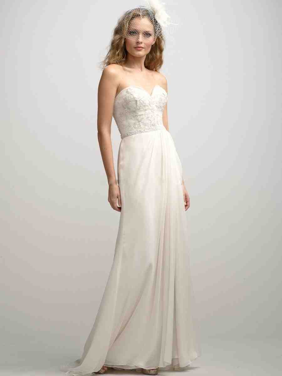 Outdoor wedding dresses for beach and garden wedding party for Simple casual wedding dresses