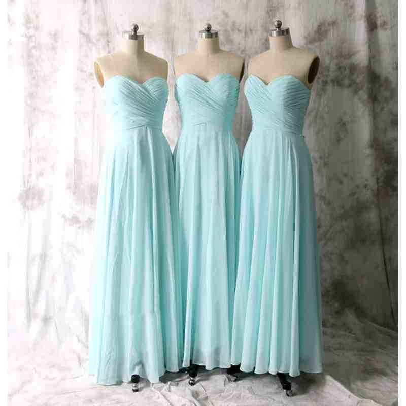 Tiffany Blue Chiffon Bridesmaid Dresses Wedding And
