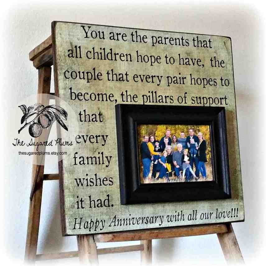 Wedding Anniversary Gift Ideas For Your Parents : Traditional 50th Wedding Anniversary Gifts For Parents - Wedding and ...