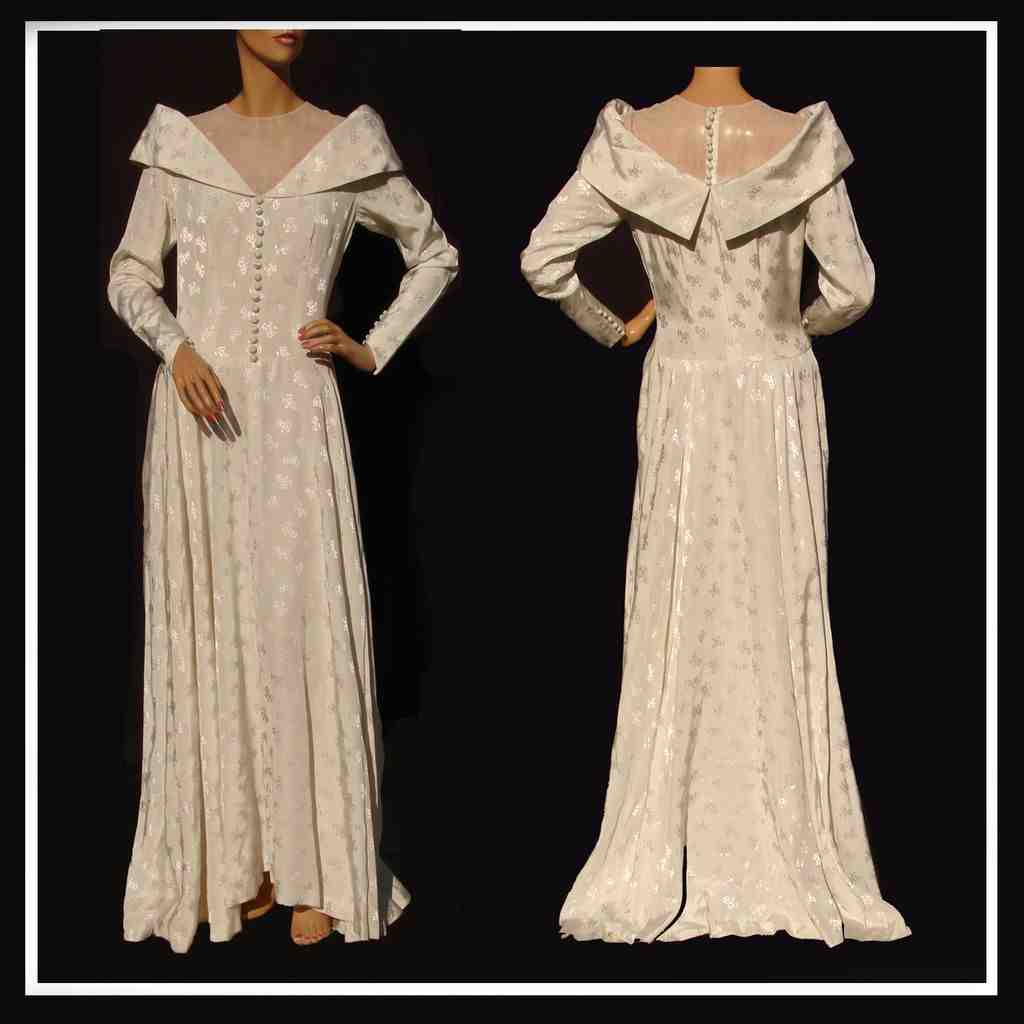 Vintage wedding dress sewing patterns wedding and bridal for Wedding dress patterns vintage