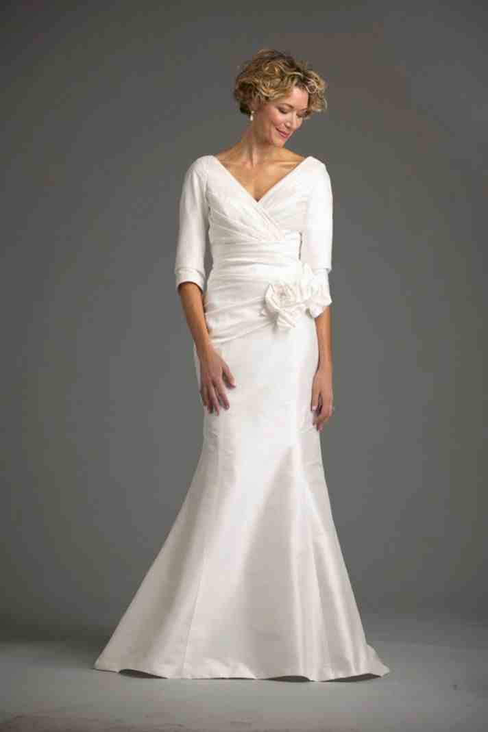 Wedding dresses second marriages older brides wedding for Bridal dresses for second weddings