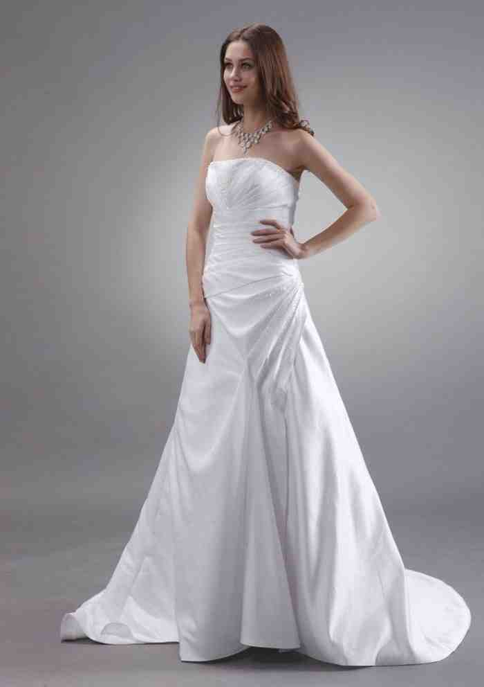 white satin wedding dress wedding and bridal inspiration On white silk wedding dresses