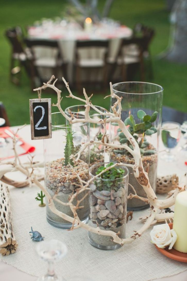 Beach wedding table decoration ideas and bridal