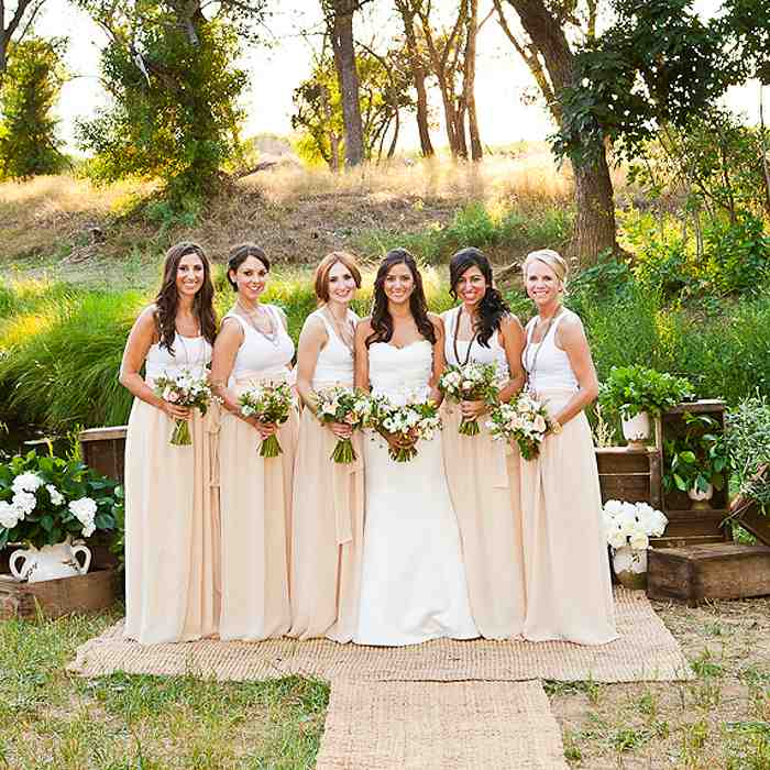 Country chic bridesmaid dresses wedding and bridal for Country sheek wedding dresses