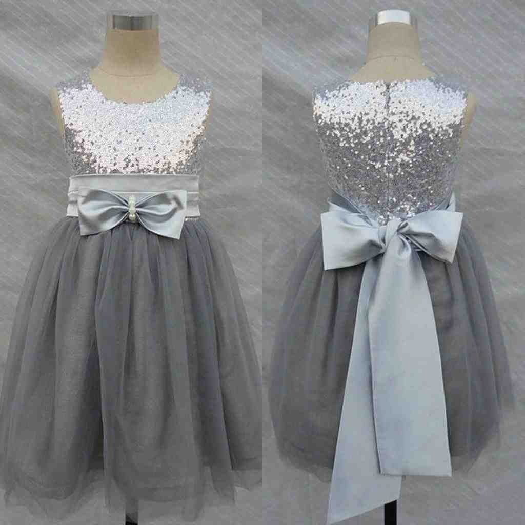 flower girl dresses grey and pink bridesmaid dresses