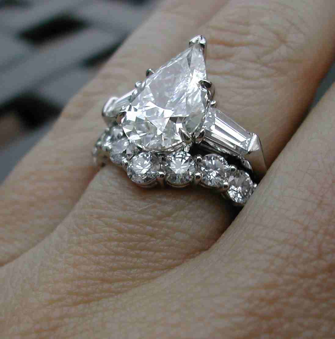 3 Carat Pear Shaped Engagement Rings Wedding and Bridal Inspiration