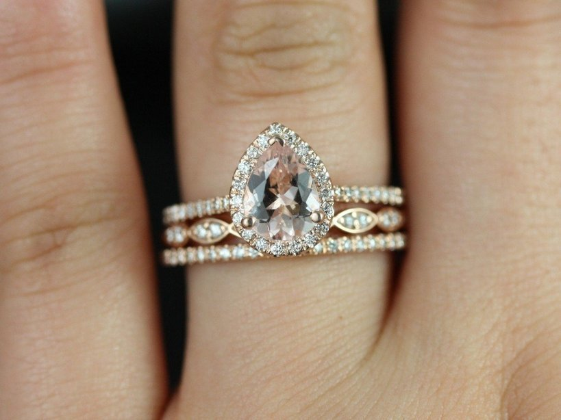 Gold Pear Shaped Engagement Rings Wedding And Bridal Inspiration