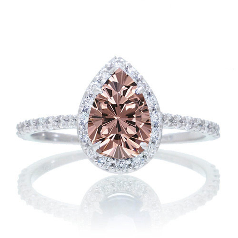 Morganite Pear Engagement Ring Wedding And Bridal Inspiration