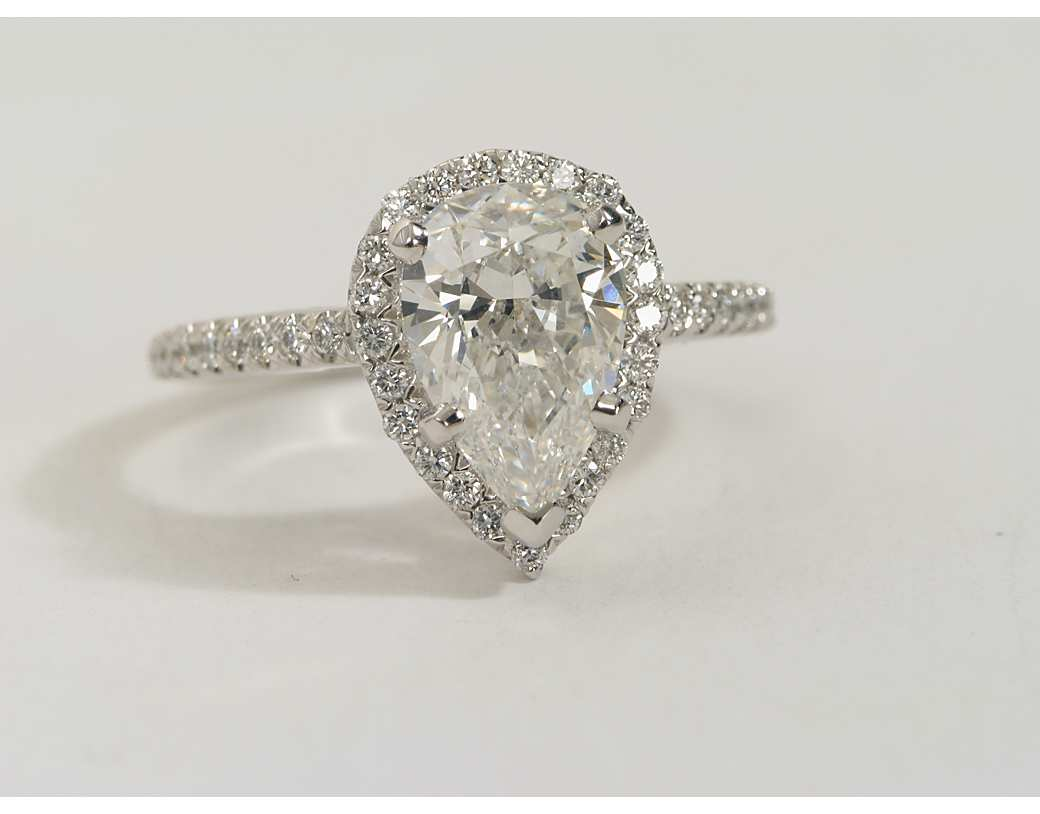 Pear Shaped Engagement Rings Wedding and Bridal Inspiration